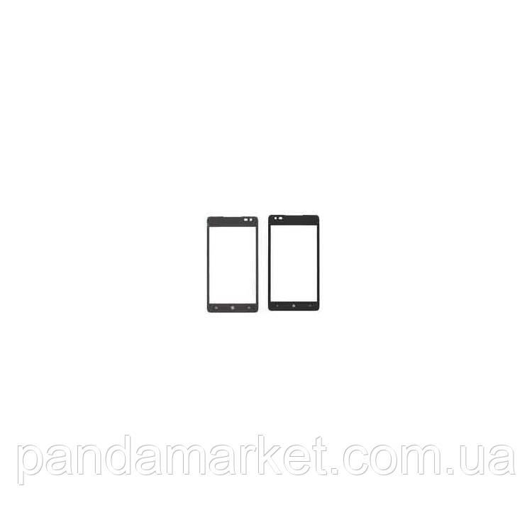 Стекло дисплея для переклейки Nokia Lumia 900 Черный (RM-823)