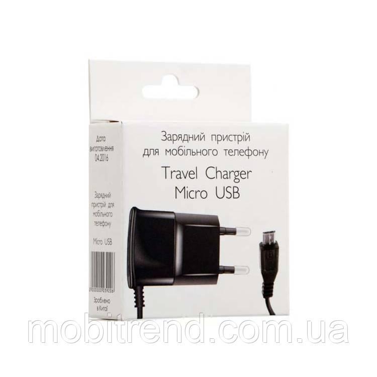 Зарядное устройство Travel Charger 0.6A micro-USB Черный
