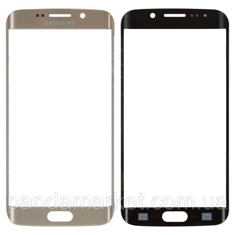 Стекло дисплея для переклейки Samsung G925F S6 Edge Золотой