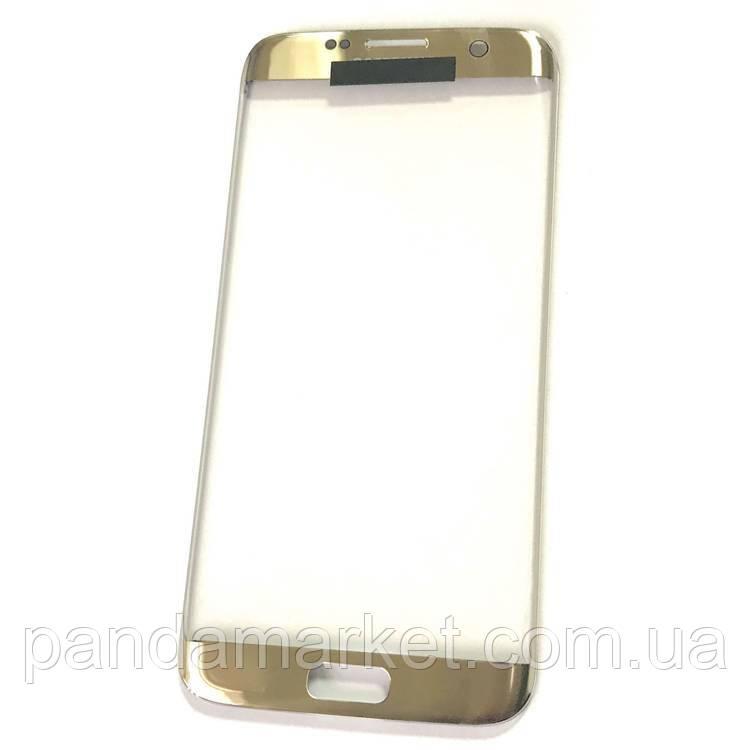 Стекло дисплея для переклейки Samsung G935F S7 Edge Золотой