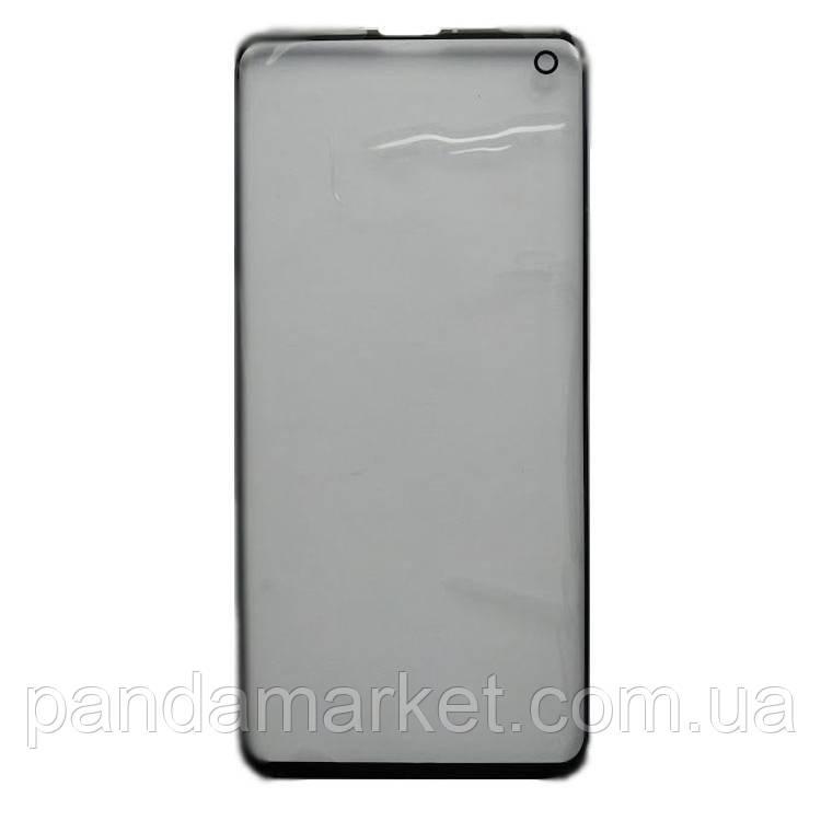 Стекло дисплея для переклейки Samsung G973 S10 Черный