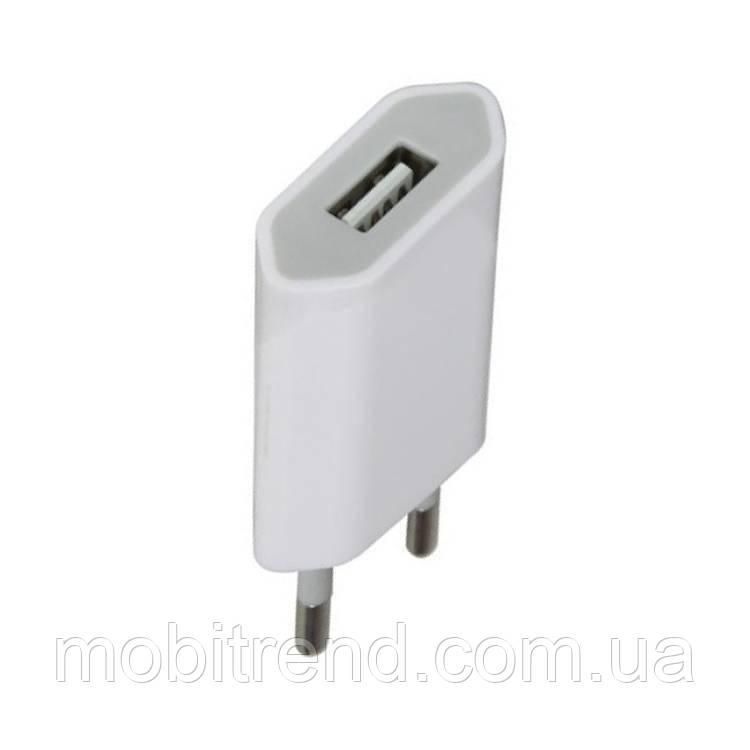 Зарядное устройство Apple iPhone 3G, 3GS, 4G, 4GS, 5 (1A) 1000mAh плоский Белый Оригинал