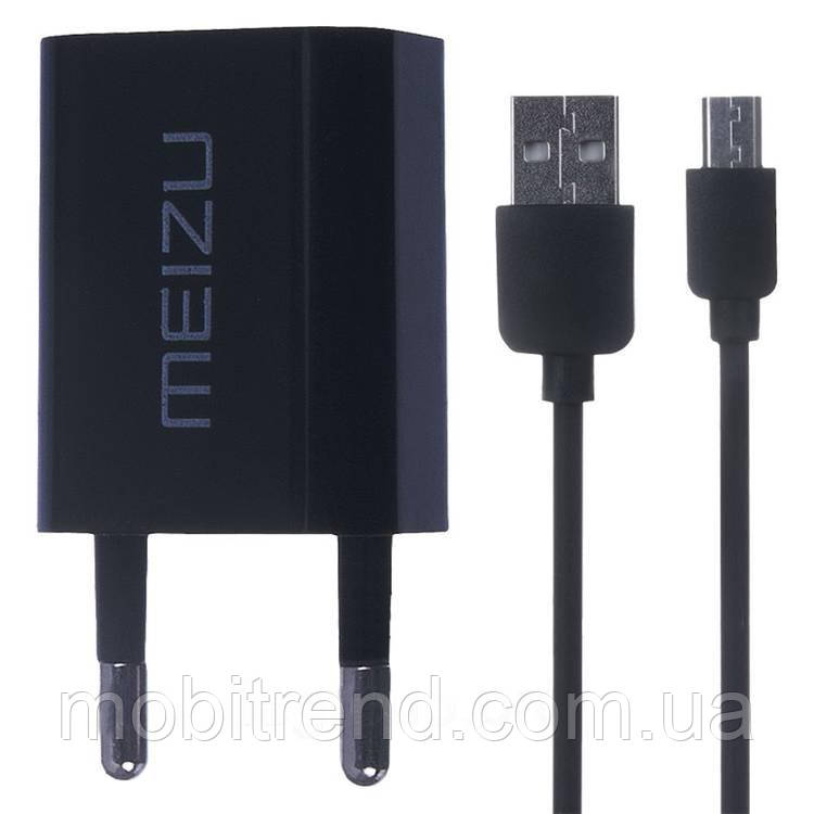 Зарядное устройство Meizu 2in1 + кабель 2.0A Черный