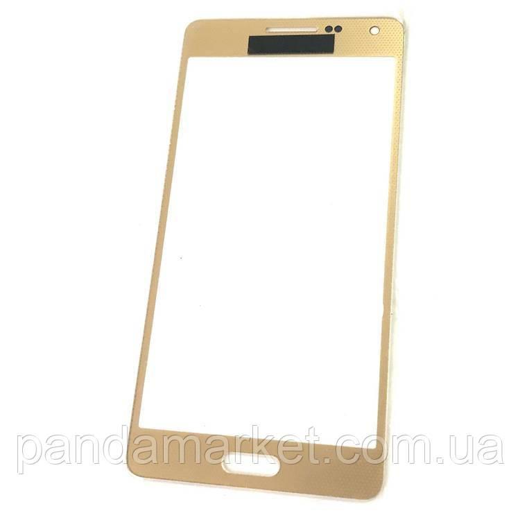 Стекло дисплея для переклейки Samsung A5 A500F Золотой