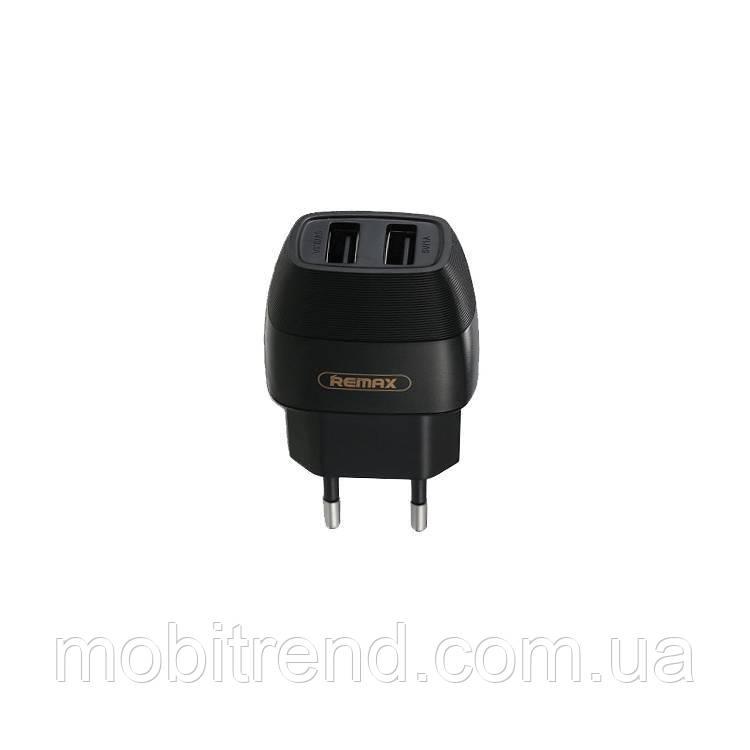 Зарядное устройство Remax RP-U29 Flinc 2.1A 2USB 220V Черный (евровилка)