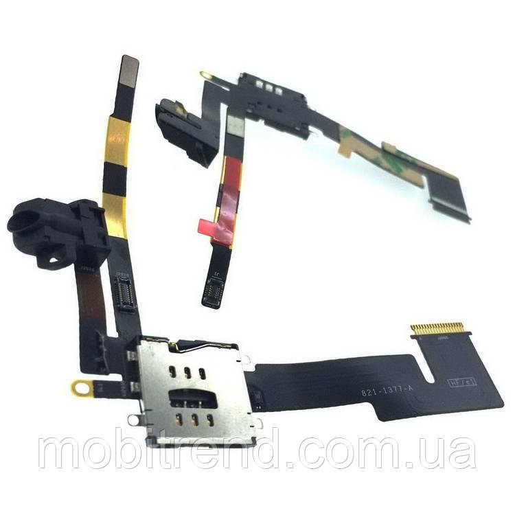 Шлейф Apple iPad 2 Head Set with SIM connector (A1395, A1396, A1397)