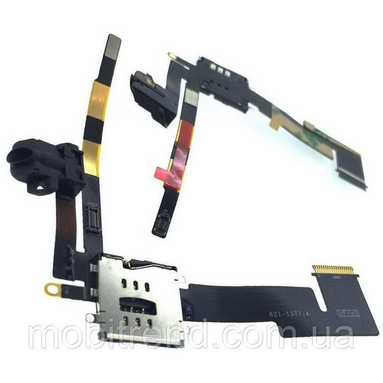 Шлейф Apple iPad 2 SIM 3G and Audio Jack Оригинал (A1395, A1396, A1397)