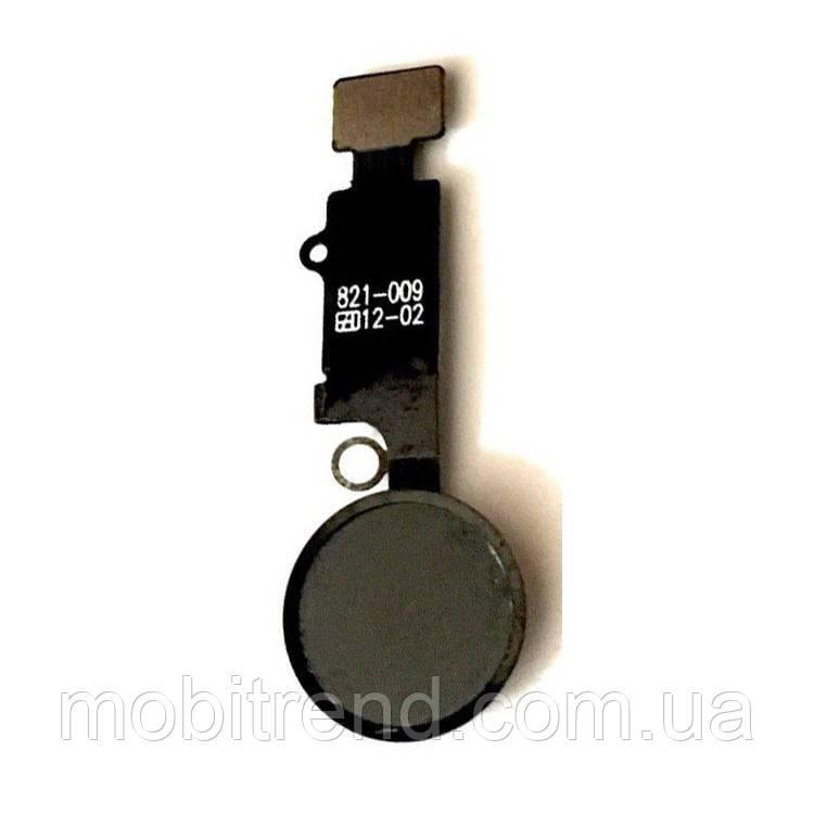 Шлейф Apple iPhone 7 (4.7) центральная кнопка Home Complete Черный