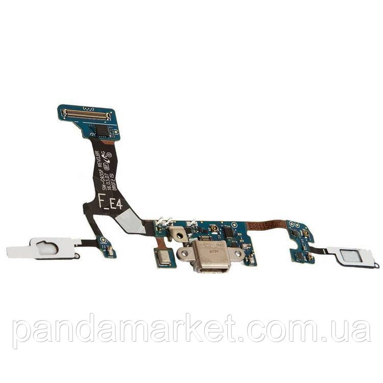 Шлейф Samsung G935F S7 Edge with разъем зарядки and components