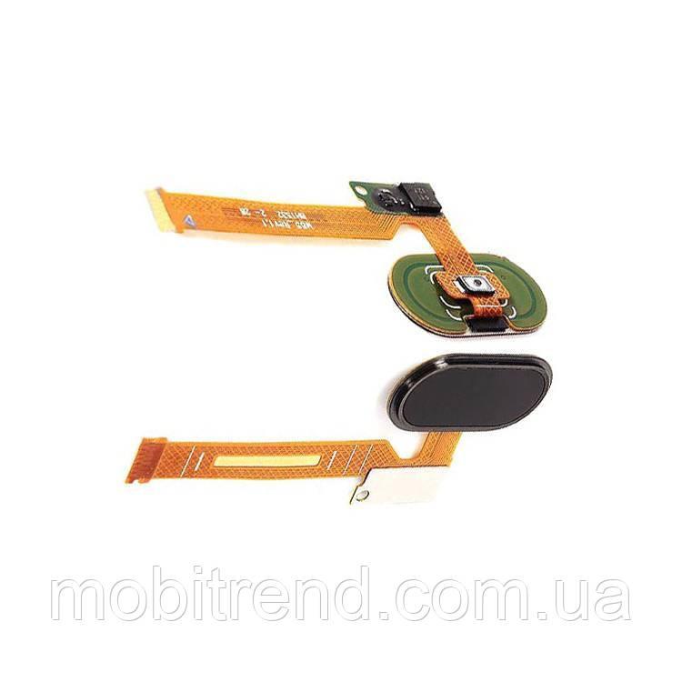 Шлейф Meizu MX5, Pro 5 центральная кнопка (Home) Черный