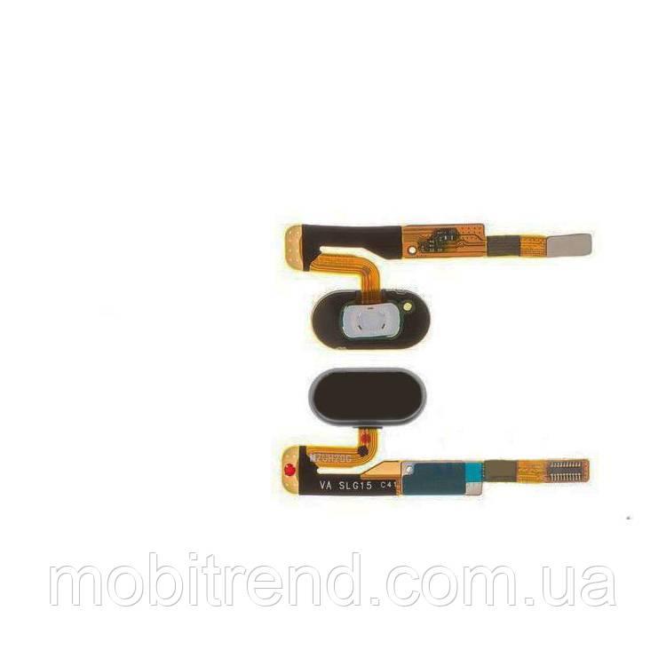 Шлейф Meizu Pro 6s центральная кнопка (Home) Черный