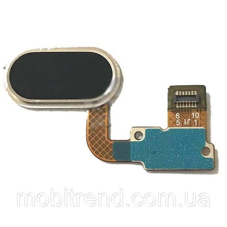 Шлейф Meizu U20 центральная кнопка (Home) Черный