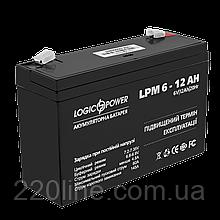 Аккумулятор AGM LogicPower LPM 6-12 AH