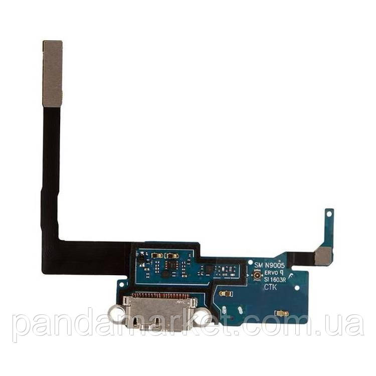 Шлейф Samsung N9005 Note3, N9006 Note 3 with разъем зарядки and components