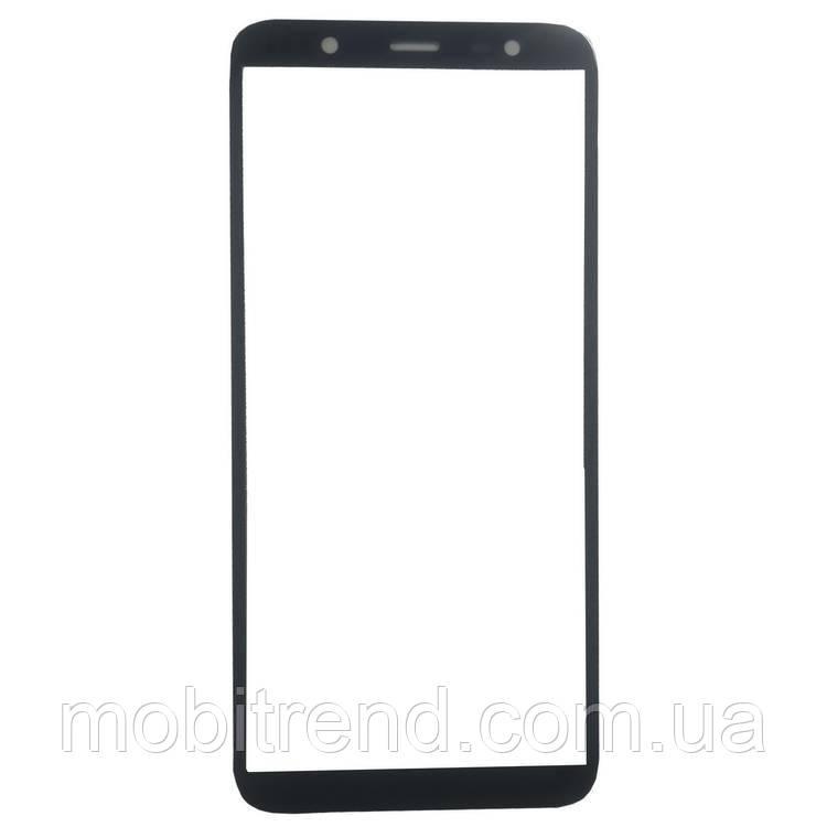 Стекло дисплея для переклейки Samsung J8 (2018) J810 Черный
