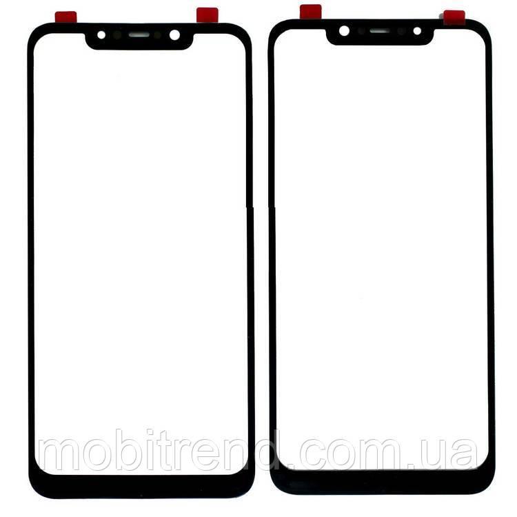 Стекло дисплея для переклейки Xiaomi Redmi Pocophone F1, Poco F1 Черный