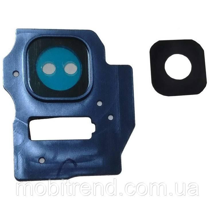 Стекло камеры Samsung S8 Plus G955 Синий