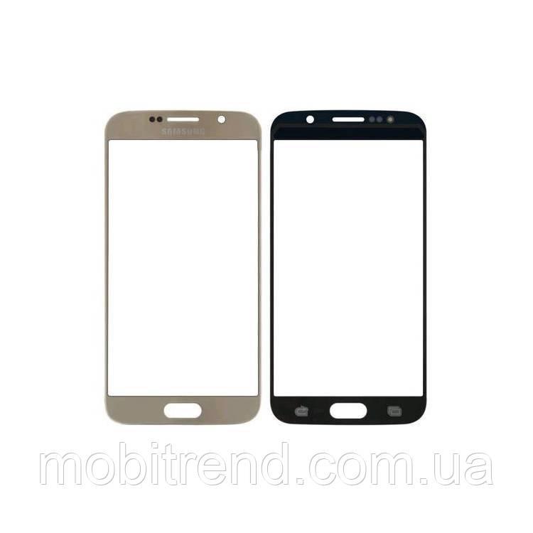 Стекло корпуса Samsung G920 S6, с OCA пленкой, Золотой