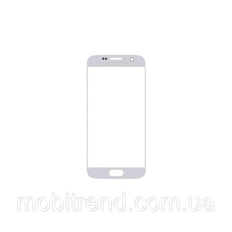 Стекло корпуса Samsung G930F S7, G930FD S7 Duos, с OCA пленкой, Белый