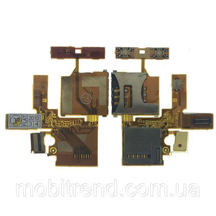 Шлейф Sony Ericsson W380, Z555 SIM + MMC