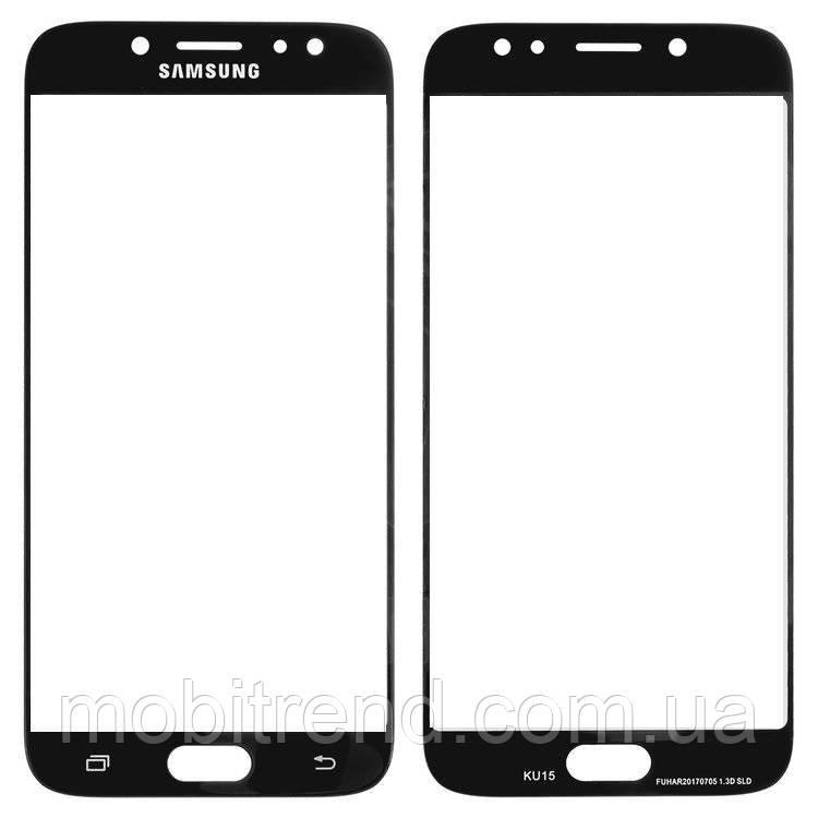 Стекло корпуса Samsung J730F J7 (2017) Черный Оригинал