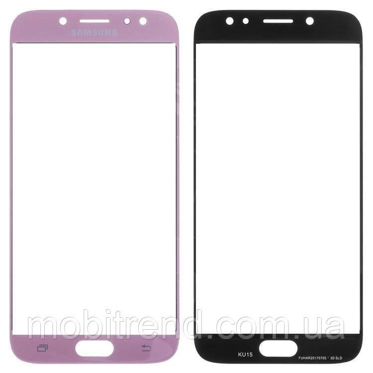 Стекло корпуса Samsung J730F J7 (2017) Розовый Оригинал