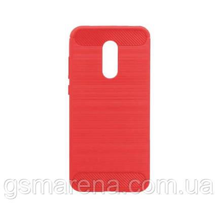 Чехол силиконовый Polished Carbon Xiaomi Redmi 5 Plus Красный, фото 2