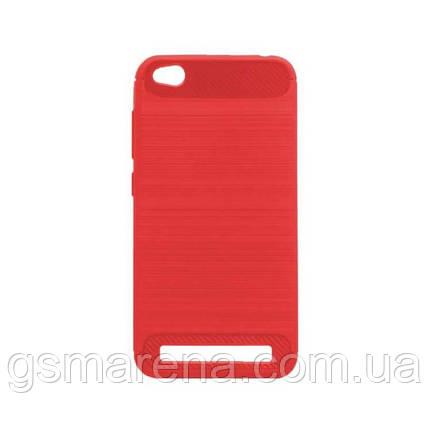 Чехол силиконовый Polished Carbon Xiaomi Redmi 5A Красный, фото 2