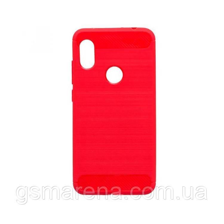Чехол силиконовый Polished Carbon Xiaomi Redmi 6 Pro, Mi A2 Lite Красный