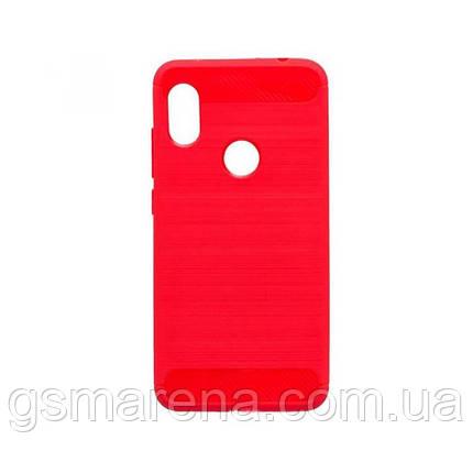 Чехол силиконовый Polished Carbon Xiaomi Redmi 6 Pro, Mi A2 Lite Красный, фото 2