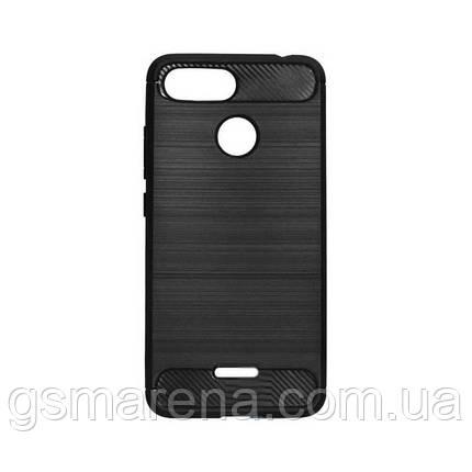 Чехол силиконовый Polished Carbon Xiaomi Redmi 6 Черный, фото 2