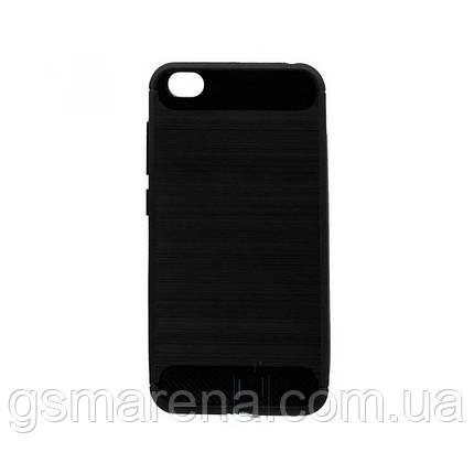 Чехол силиконовый Polished Carbon Xiaomi Redmi Go Черный, фото 2