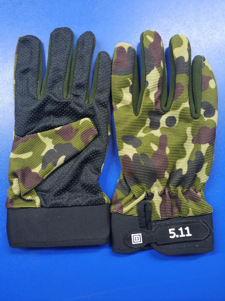 Тактичні військові рукавички полнопалые 5.11 Multicam розмір L (511-glmlk-l)