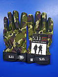Тактичні військові рукавички полнопалые 5.11 Multicam розмір L (511-glmlk-l), фото 2