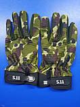 Тактичні військові рукавички полнопалые 5.11 Multicam розмір L (511-glmlk-l), фото 3