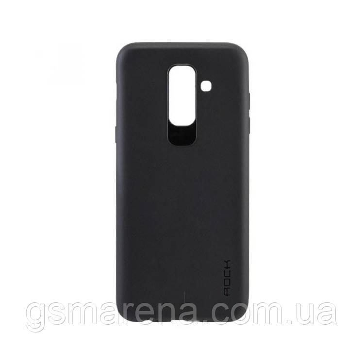 Чехол силиконовый Rock 0.3mm Samsung A6 Plus (2018) A605 Черный