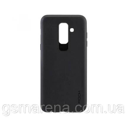 Чехол силиконовый Rock 0.3mm Samsung A6 Plus (2018) A605 Черный, фото 2