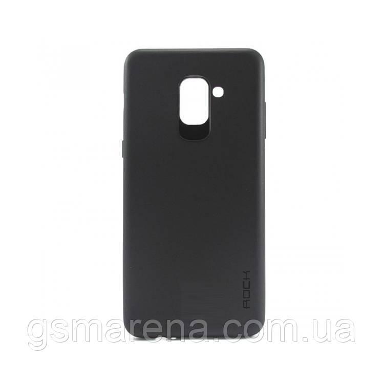 Чехол силиконовый Rock 0.3mm Samsung A8 Plus (2018) A730 Черный