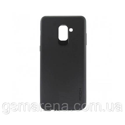 Чехол силиконовый Rock 0.3mm Samsung A8 Plus (2018) A730 Черный, фото 2