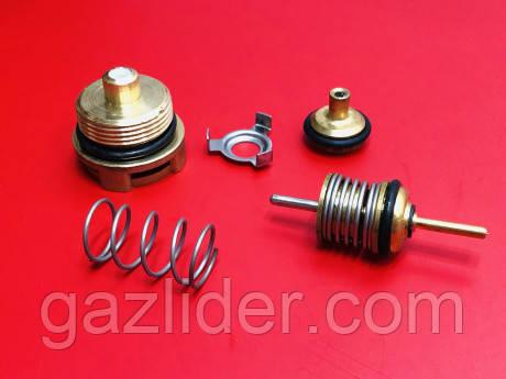 Ремкомплект трехходового клапана (системы) Fugas/Rens/Grandini/Weller (втулка, шток, клапан переключающий)