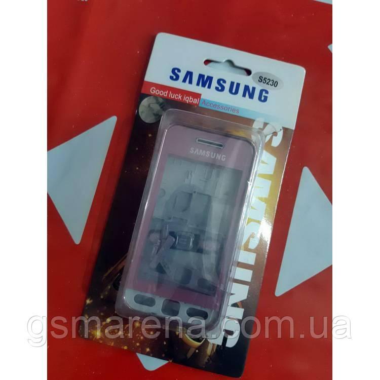 Корпус Samsung S5230 полный комплект, Розовый