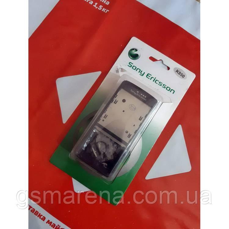 Корпус Sony Ericsoon K850 полный комплект, Черный