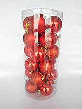 Новогодние елочные шары диаметр 8 см , 24 штуки в упаковке, фото 2