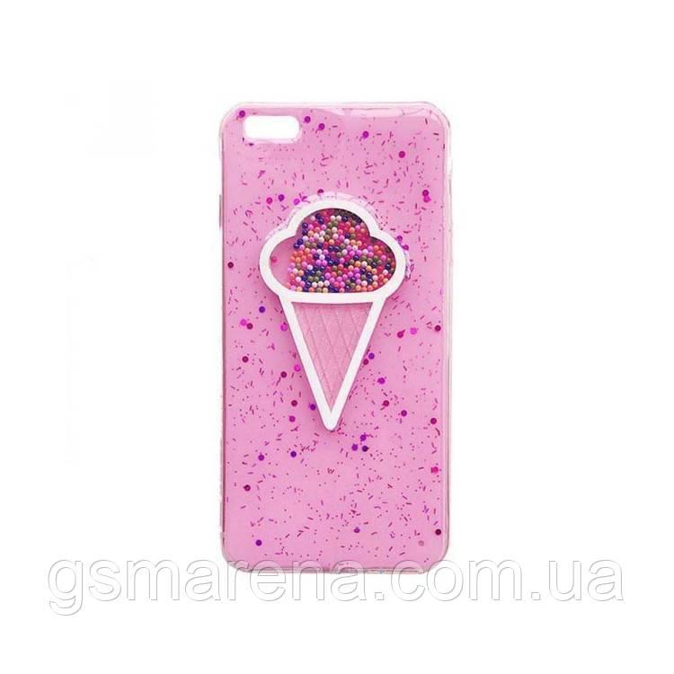 Чехол силиконовый Ice cream Apple iPhone 6, 6S Розовый