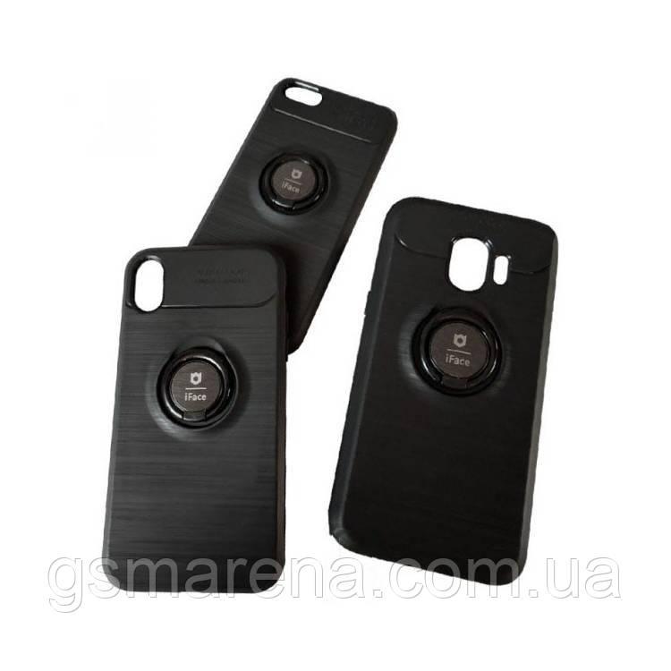 Чехол силиконовый iFace 3in1 Auto Focus с кольцом Samsung S10 Plus G975 Черный