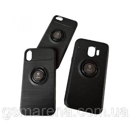 Чехол силиконовый iFace 3in1 Auto Focus с кольцом Samsung S10 Plus G975 Черный, фото 2