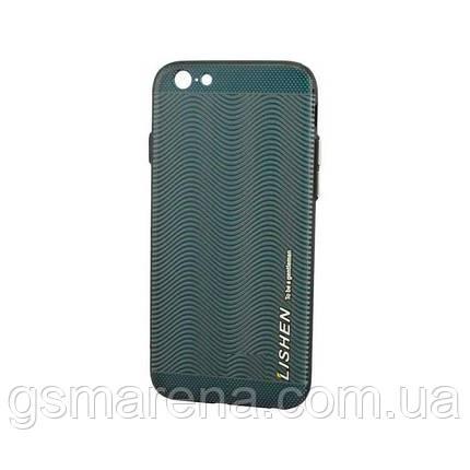 Чехол силиконовый Lishen Leather Texture Apple iPhone 6 wave, фото 2