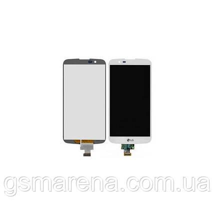 Дисплей модуль LG K10, K410, K420, K430 Белый, фото 2