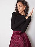 Стеганая юбка короткая бордо ( размеры 40-54 XS-XXL), фото 4