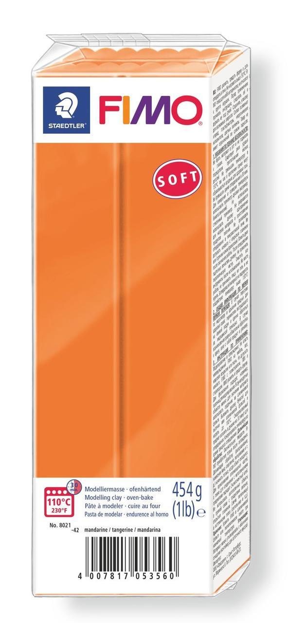 Пластика Soft, Оранжевая, 454 г, Fimo